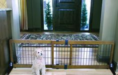 Carlson Pet Products Design Studio Freestanding Extra Wide Pet Gate, 20-inch - Chewy.com