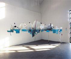 bottle sculpture, artist unkown.