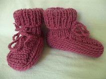 Babystiefel gestrickte Socken Gr. 74/80 Babyschuhe