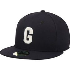 New Era Homestead Grays Black Turn Back the Clock 59FIFTY Fitted Hat Gorras  Snapback 79feb8a6a37