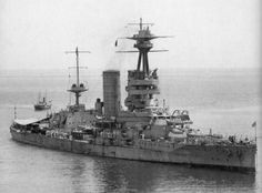 HMS Canada - building for Chile in Britain, she was taken over by the Royal Navy whilst under construction in 1915 and served for the duration of WW1 (including at Jutland) as the only 14 in dreadnought in the Grand Fleet. In 1920 she was returned to Chile, and was not scrapped until 1959.