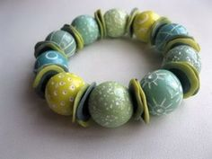 Bracelet by GALINA DEMENCHENKO | Polymer Clay Planet