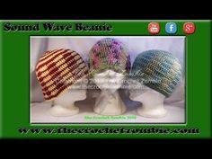 Sound Wave Beanie (Adult) | The Crochet Zombie