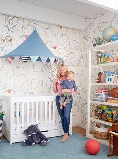 Charlie's Animal and Circus Themed Nursery - Emily Henderson