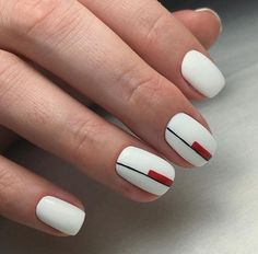 The advantage of the gel is that it allows you to enjoy your French manicure for a long time. There are four different ways to make a French manicure on gel nails. Trendy Nails, Cute Nails, My Nails, Hair And Nails, Nails Ideias, Nail Deco, Minimalist Nails, Gel Nail Designs, Beautiful Nail Designs
