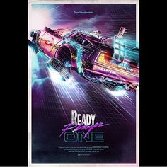 Superawesome piece of art by @bjack_attack of Ready Player One. Ik looking forward seeing this in a couple of months. So much that I even saw the trailer. Which as some of you might know I haven't been doing in years. Thanks for showing me this @geeklovenl. -Melvin #readyplayerone #ernestcline #armada #fanart #ghostbusters #backtothefuture #bttf #answerthesecondcall #delorean #neon #disco #graphicdesign