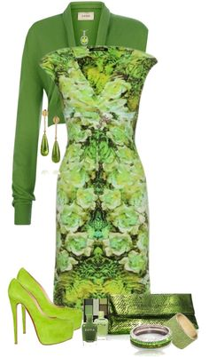 """Hues Of Green"" by jaimie-a on Polyvore"