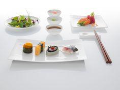 Sushi, které pohladí všechny smysly Contemporary Dinnerware, Serveware, Sushi, Restaurant, Dishes, Dining, Modern, Kitchen, Asia