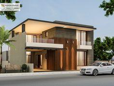 500 Yards House Elevation on Behance Bungalow Haus Design, Duplex House Design, House Front Design, Modern House Design, Modern Architecture House, Architecture Design, Style At Home, Morden House, House Elevation