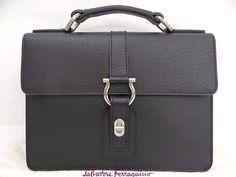 Auth Salvatore Ferragamo Hand Bag Gancini Leather Italy 0 Ship 02141094300 mF (eBay Link)