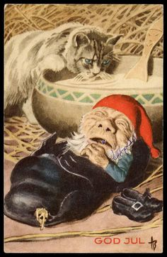 Photos from Norway's past Gnomes, Troll, Panther, Norway, Elf, Christmas Cards, Teddy Bear, Stamp, Manga