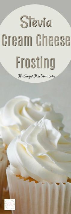 Stevia Cream Cheese Frosting Enjoy this recipe for sugar free cream cheese frosting using Stevia as the sweetener. This is a tasty frosting that easy to make. Keto Desserts, Just Desserts, Delicious Desserts, Dessert Recipes, Stevia Desserts, Dinner Recipes, Baking Desserts, Sugar Free Deserts, Sugar Free Sweets