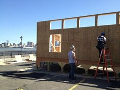 With a spectacular view of the New York City skyline, students from the Stevens Institute of Technology spent more than three months on the Hoboken Waterfront building their house, Ecohabit, and they considered it a learning process for everyone. #SD2013
