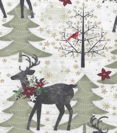 MAJESTIC REINDEER Craft Embellishments 1ST CLASS POST Christmas Deer Button