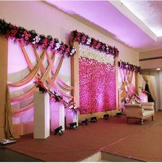 Reception Stage Decor, Wedding Backdrop Design, Wedding Stage Design, Wedding Reception Backdrop, Wedding Mandap, Indian Wedding Stage, Wedding Receptions, Engagement Stage Decoration, Simple Wedding Decorations