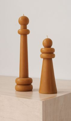 Set of 2 Carl Durkow Beeswax Candles: Rounded – Spartan Shop Beeswax Candles, It Cast, Sculpture, Sweet, Handmade, Shop, Big, Accessories, Furniture