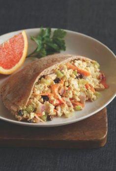 Curry Tofu Egg-Less Salad Tofu Recipes, Delicious Vegan Recipes, Salad Recipes, Vegetarian Recipes, Healthy Recipes, Vegetarian Sandwiches, Healthy Soups, Healthy Dishes, Dinner Recipes