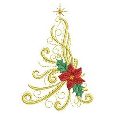 Christmas Trees 2, 2 - 3 Sizes! | What's New | Machine Embroidery Designs | SWAKembroidery.com Ace Points Embroidery