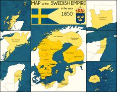 A map from an alternate world where Sweden was much, much more powerful than in OTL. In this world, Sweden has most of coastal Germany as well as most o. Imaginary Maps, Swedish Army, Country Maps, Alternate History, Fantasy Map, Bound Book, Historical Maps, Family History, Sweden