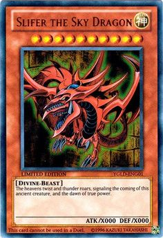 YuGiOh Legendary Collection Single God Card Ultra Rare Slifer the Sky Dragon… Yu Gi Oh, Yugioh Legendary Collection, Yugioh Collection, Yugioh Dragons, Pokemon, Monster Cards, American Gods, Digimon, Card Games