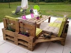 Faire un salon de jardin en palette | Pallet furniture, Pallets and ...