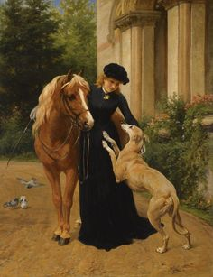 Welcome Home by George Augustus Holmes (English, 1822–1911)