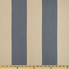 Magnolia Home Fashions Belle Isle Stripe Yacht Blue - Discount Designer Fabric - Fabric.com