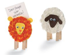 A fun lion and lamb craft for the coming month. Kids of all ages can learn the art of quilling … Kids Crafts, Sheep Crafts, Bug Crafts, Family Crafts, Bible Crafts, Preschool Crafts, March Crafts, Spring Crafts, Lamb Craft