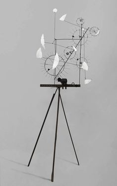 Artwork page for 'Metamechanical Sculpture with Tripod', Jean Tinguely, 1954 Jean Tinguely, Alexander Calder, Illustrations Poster, Illustration Art, Op Art, Modern Sculpture, Sculpture Art, Nouveau Realisme, Art Picasso