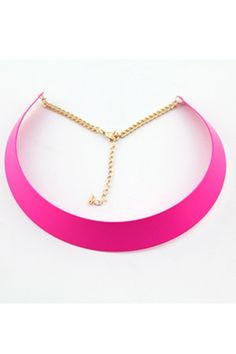 Fluorescence Colored Glossy Torque Necklace