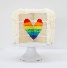 DIY Surprise Inside Heart Cake from I am baker