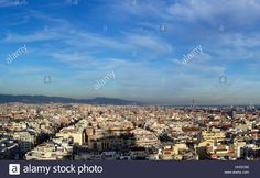 Download this stock image: View of Barcelona cityscape - HHDCN0 from Alamy's library of millions of high resolution stock photos, illustrations and vectors.
