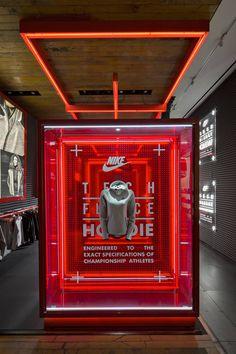 Nike flagship store by Nike WeShouldDoItAll New York City 20 Nike flagship store by Nike & WeShouldDoItAll & Corey Yurkovich, New York City Pop Display, Visual Display, Display Design, Booth Design, Exhibition Display, Exhibition Space, Visual Merchandising, Instalation Art, Pop Up