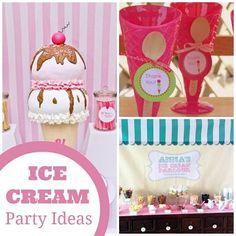 Ice Cream Party Ideas #icecream #party