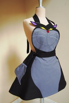 Lucifer cat apron,cat from Cinderella   Unique and stylish creations,made with love ♥ I create beautiful outfits for serving meals for friends and