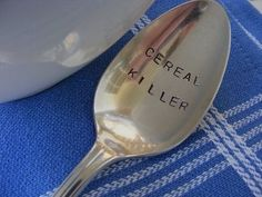 Cereal killer spoon // just click the link in our bio! if you have any photos with our merchandise feel free to tag us for a chance to be featured! #cybermania #sale #fashion #clothes #skulls #tattoos #tattooedgirls #bigsale #sales #shop #allblack #rebel #rebelcircus #naughty #santa #christmas #list #holiday #shopping #home #decor