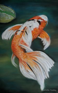 How to paint koi fish and lily pads do it yourself today for Purple koi fish for sale