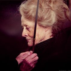 Much love and appreciation to this woman.  She battled apparently horrible breast cancer during the last few Harry Potter movies but pushed on.  Carry on Maggie Smith. <3
