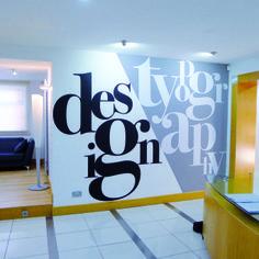 Bold and modern #wallgraphic