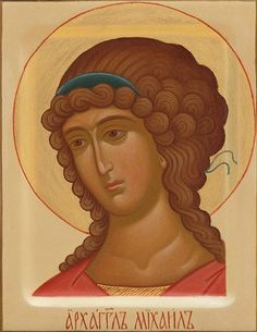St Michael the Archangel - Acrylic - Painted Icons - Icons & Crosses… Byzantine Art, Byzantine Icons, Paint Icon, Illumination Art, Religious Paintings, Painting Studio, Archangel Michael, Religious Icons, Catholic Saints