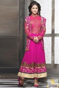Pink Santoon Anarkali Salwar Suit with Frock Style  http://www.pavitraa.in/store/anarkali-salwar-suit/?utm_source=pk&utm_medium=pinterestpost&utm_campaign=6June  #pavitraa, #salwarsuits, #anarkalisalwarsuits, #designerdresses, #partyweardresses, #salwarkameez, #lehengasuits, #bollywooddresses, #onlinesuit, #cottondresses,  #promdress