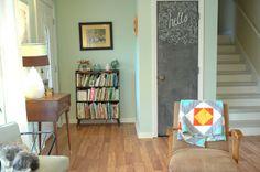 Living Room Update: Valspar Belle Grove Aloe Green