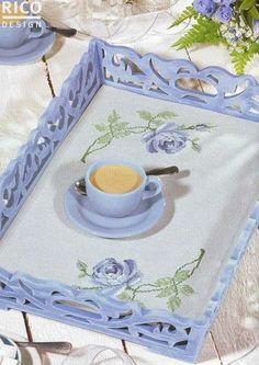 Σχέδια για κεντήματα, δίσκος με κέντημα, τριαντάφυλλο, σταυροβελονιά, patterns for embroidery,