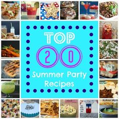 Top 20 Summer Party Recipes | Real Housemoms #Roundup #summerparty