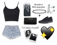 """'im at an all time low'"" by paularuiz11 ❤ liked on Polyvore featuring Topshop, Levi's, Vans, Michael Kors and Miss Selfridge"