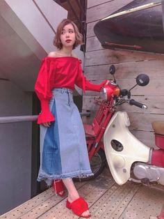 【Reservation Sales】 Denim Long Skirt