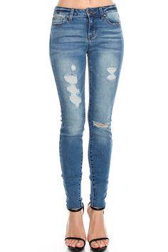 Celebrity Pink Angled Frayed Hem Skinny Jeans Big Girls