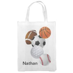 Baseball, basketball, soccer, football - whatever your childs sport this is a handy bag to carry sports accessories. Personalize with your child's name.