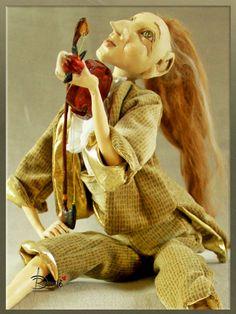 Art dolls-handmade doll-art and от DovileDolldeco на Etsy