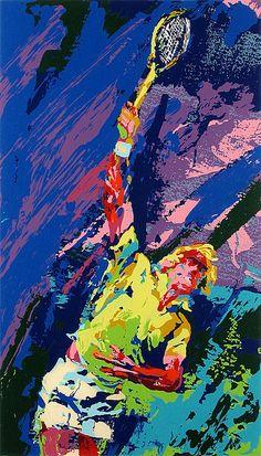 LeRoy Neiman...CLASSIC SERVE  :) One of my fav artists!!!